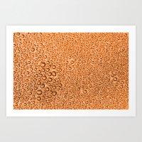 Water Condensation 05 Orange Art Print