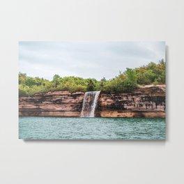 Water Fall at Pictured Rocks, Michigan Metal Print