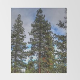 Tall Trees Throw Blanket