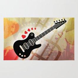 A Guitar for a Love Serenade Rug