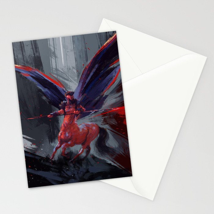 Winged centaur Stationery Cards