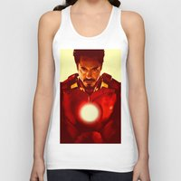 robert downey jr Tank Tops featuring Iron Man *** by Hands in the Sky
