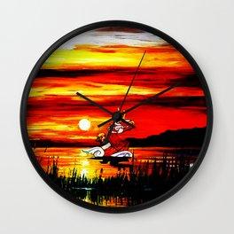 zelda link art Wall Clock