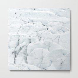 White winter glacier icelandic landscape photography Metal Print
