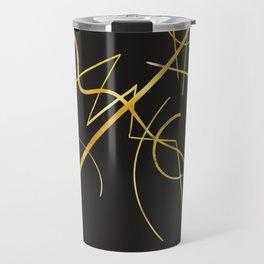 Kandinsky - Black and Gold Travel Mug