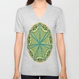 Mandala in florals Unisex V-Neck