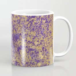 Purple and Gold Patina Design Coffee Mug