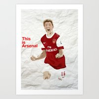 arsenal Art Prints featuring This is Arsenal by SocceryankDan
