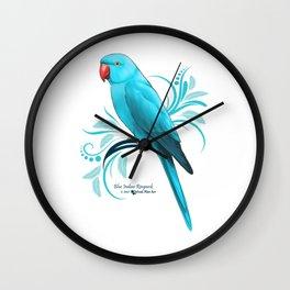 Bue Indian Ringneck Parrot Wall Clock