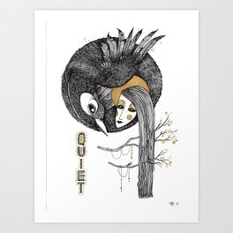 BIRD WOMEN 4 Art Print