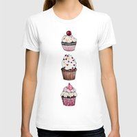 cupcakes T-shirts featuring Cupcakes by Natalie Murray