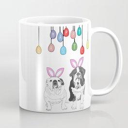 Happy Easter - Bulldog Bunnies Coffee Mug