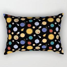 Kawaii Solar System Rectangular Pillow