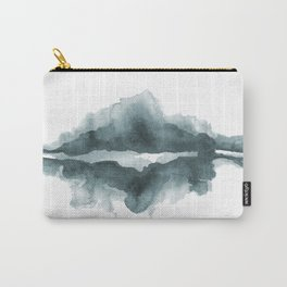 Mountain Reflections on a Lake in Blue Carry-All Pouch