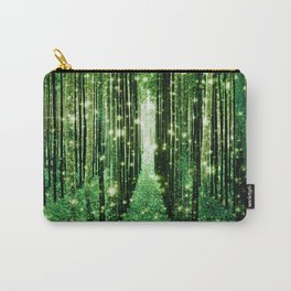 Magical Forest Green Elegance Carry-All Pouch