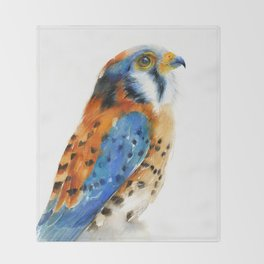 Kestrel Falcon Throw Blanket