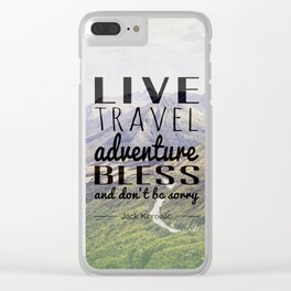 Jack Kerouac- Mountains Clear iPhone Case