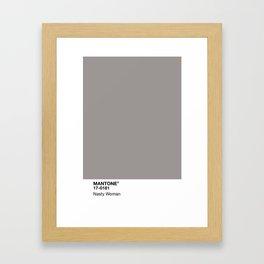 MANTONE® Nasty Woman Framed Art Print