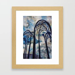 Seattle Science Center Arches Framed Art Print