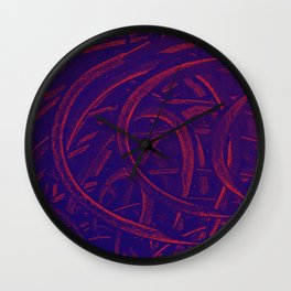 Junction - Purple and Red Wall Clock