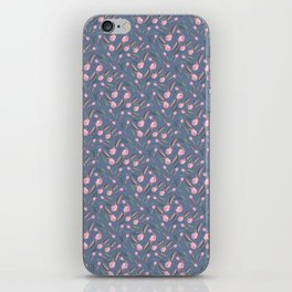 Watercolor Camellia Buds iPhone Skin