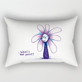 """What's the Point?"" Flowerkid Rectangular Pillow"