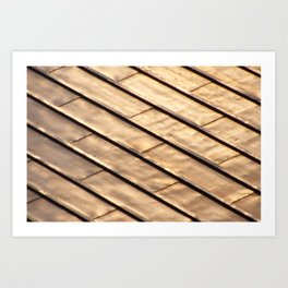 Rayures Sur le toit Art Print