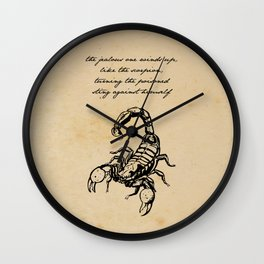 Friedrich Nietzsche - The Scorpion Wall Clock