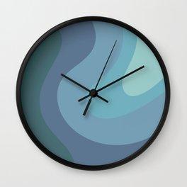 MIDI - Mid Century Modern Graphic Pattern Blue Wall Clock