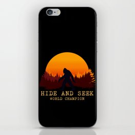 Bigfoot - Hide and Seek World Champion iPhone Skin