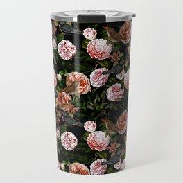 Vintage & Shabby Chic - Blush Camellia & Kingfishers Travel Mug