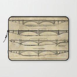 Washington Bridge Proposal Blueprint Plans Laptop Sleeve