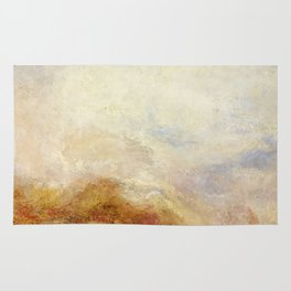 A mountain scene by Joseph Mallord William Turner, 1845 Rug