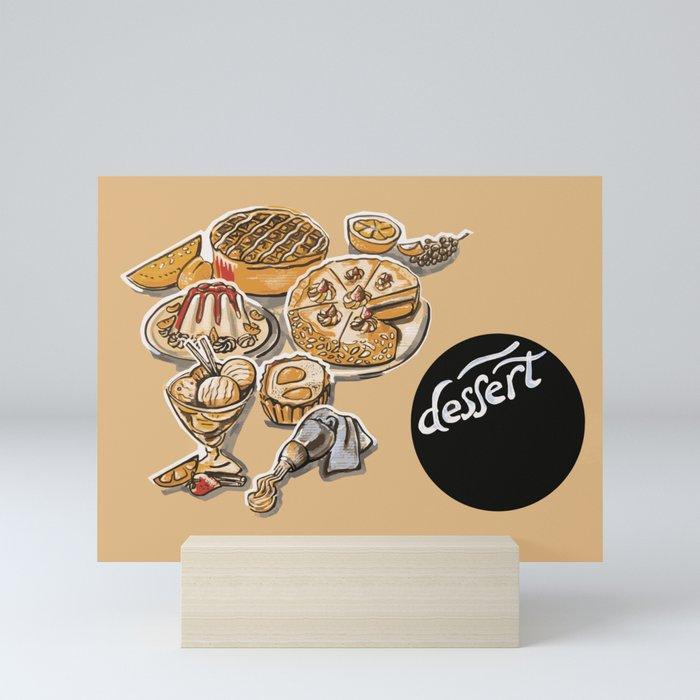 desserts menu Mini Art Print
