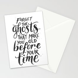 Forget the Ghosts - White Stationery Cards