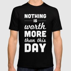 Nothing MEDIUM Mens Fitted Tee Black