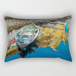 Norwegian Row Boat And Reflections Rectangular Pillow