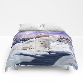 Snow Wolves of the Wilderness Comforters