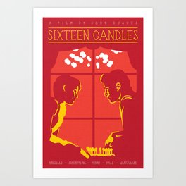 80s TEEN MOVIES :: SIXTEEN CANDLES Art Print