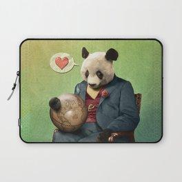 Wise Panda: Love Makes the World Go Around! Laptop Sleeve
