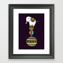 Elephant Circus Framed Art Print