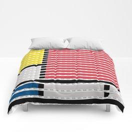 Mondrian pantone as pixel Comforters