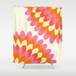Dahlia at 60's Shower Curtain