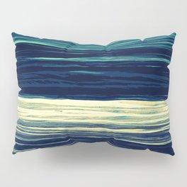 Blue Teal Texture Stripes Pillow Sham