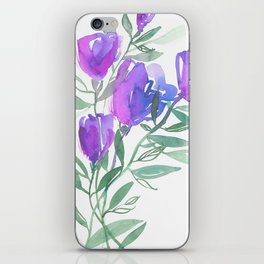 Tulipes Pourpres iPhone Skin