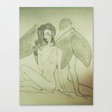 Love`s Angel Wings Canvas Print