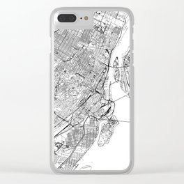 Montreal White Map Clear iPhone Case