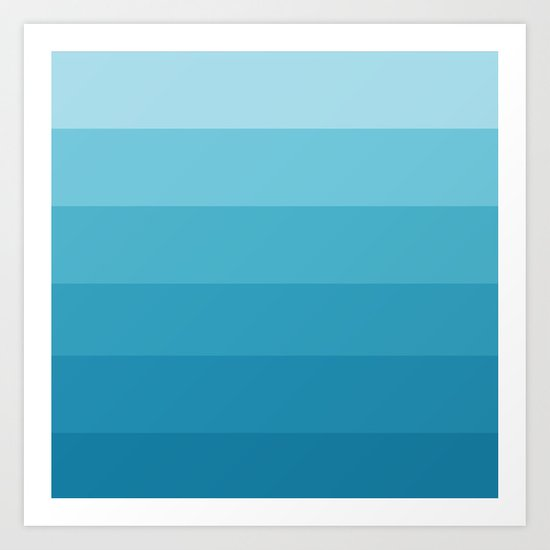 Seabreeze Ombre Art Print