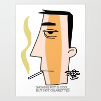 cigarettes Art Prints featuring Cigarettes by Brian Sisson