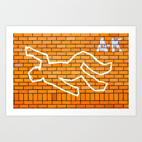 Crime Scene Art Print